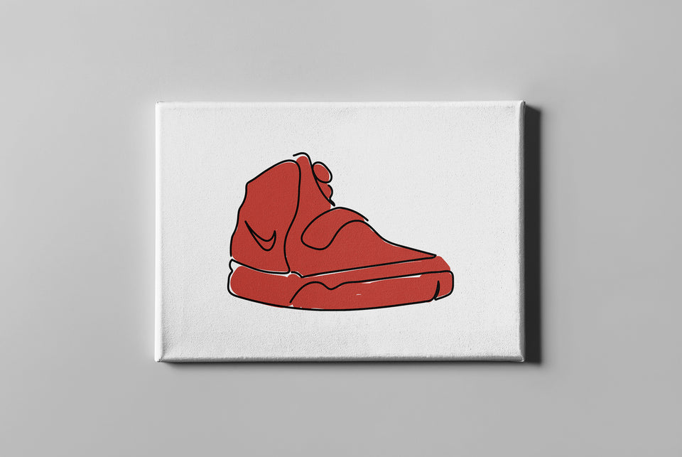 Yeezy Red October Canvas