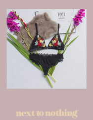 Next To Nothing Floral Decadence Bralette