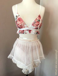 Next To Nothing Secret Garden Ruffle Bralette