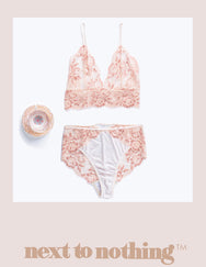 Next To Nothing Peony Lace set