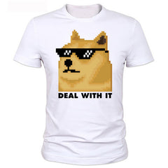 Deal With It Doge T Shirt - Rock & Gear