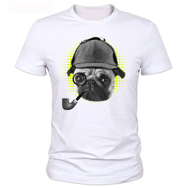 Cool Pug with Helmet T Shirt - Rock & Gear