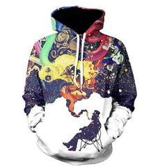Colorful Smoking in Winter Painted Autumn Hoodies - Rock & Gear