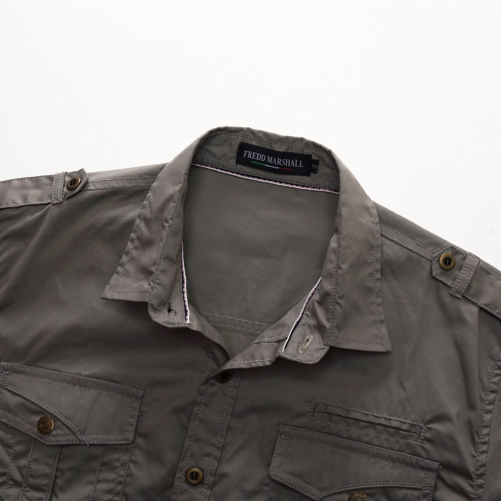 Cotton Cargo Short Sleeve Shirt - Rock & Gear