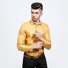 Bright Slim Fit Silk Dress Shirt - Rock & Gear