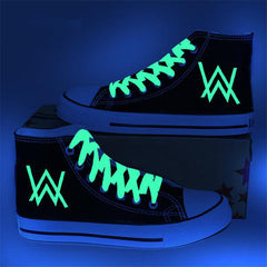 Alan Walker High Top Light in the Dark Canvas Shoes - Rock & Gear