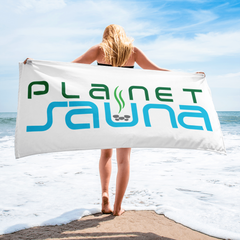 Planet Sauna Beach Towel Gateway to Relaxation and Health