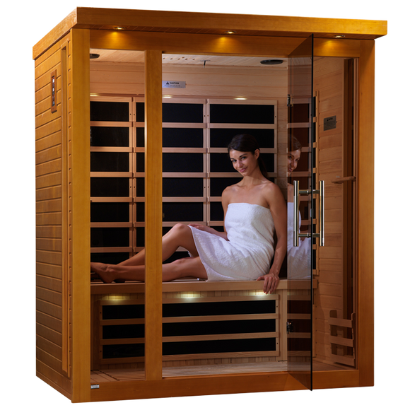 Planet Sauna:Amalthea 3 Person Low EMF Far Infrared Sauna,Sauna,Dynamic Saunas