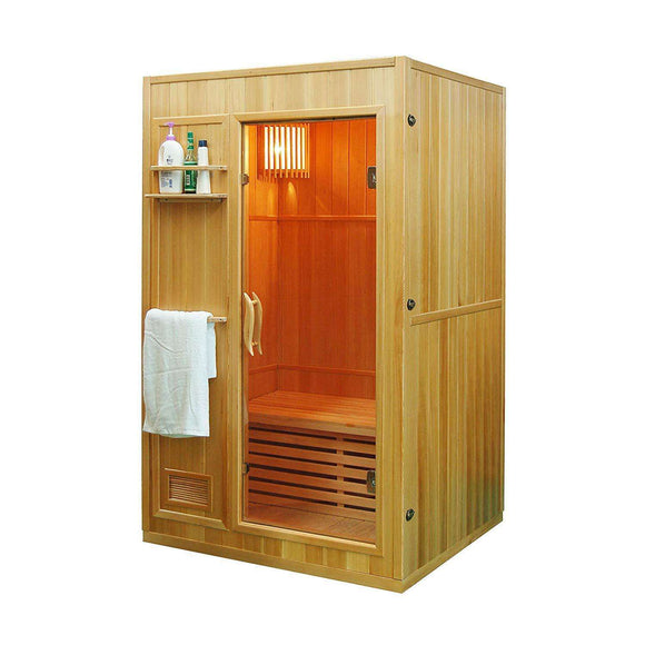 Planet Sauna:Capella by Aleko 2 Person Indoor Wet/Dry Sauna with 3 kW Heater,Traditional Sauna,Aleko