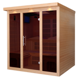 Planet Sauna:Deimos 6 Person Near Zero EMF Far Infrared Sauna,Sauna,Golden Designs Saunas