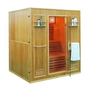 Planet Sauna:Diadem by Aleko 6 Person Indoor Wet/Dry Sauna with 4.5 kW Heater,Canadian Hemlock,Traditional Sauna,Aleko