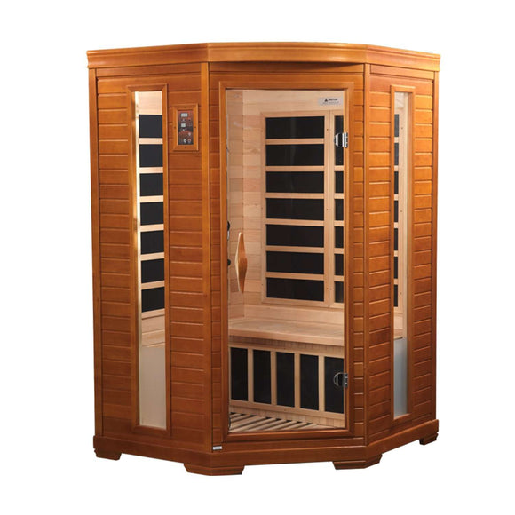 Triton 2 Person Corner Low EMF Far Infrared Sauna, [variant_title], Sauna, [shop_name]