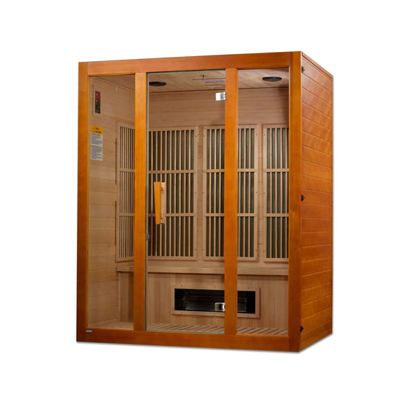 Planet Sauna:Elara 3 Person Dual Technology Low EMF Far Infrared Sauna,Sauna,Maxxus Saunas