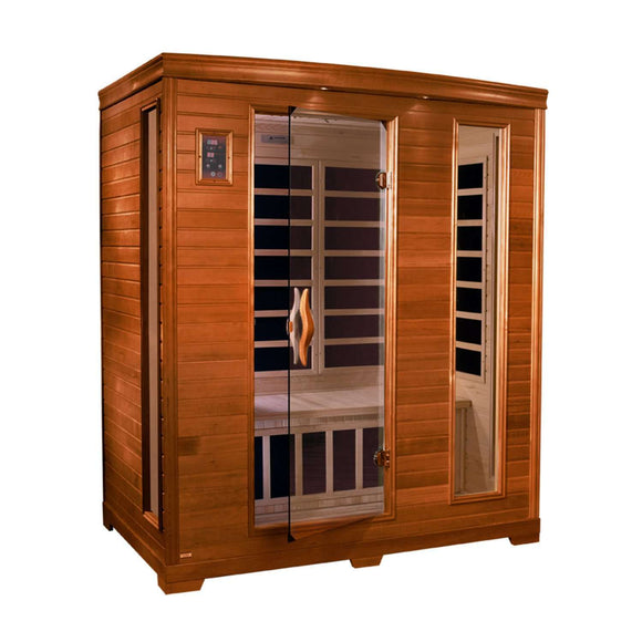 Planet Sauna:Europa 3 Person Low EMF Far Infrared Sauna,Sauna,Dynamic Saunas