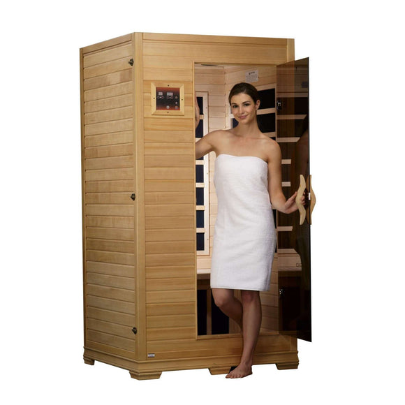 Planet Sauna:Golden Designs 1-2 Person Low EMF Far Infrared Sauna,Sauna,Golden Designs Saunas