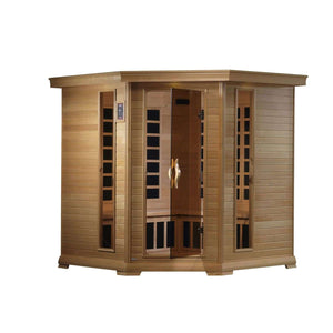 Stephano 4-5 Person Corner Near Zero EMF Far Infrared Sauna, [variant_title], Sauna, [shop_name]
