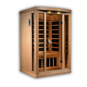 Planet Sauna:Helene 2 Person Near Zero EMF Far Infrared Sauna,Sauna,Golden Designs Saunas