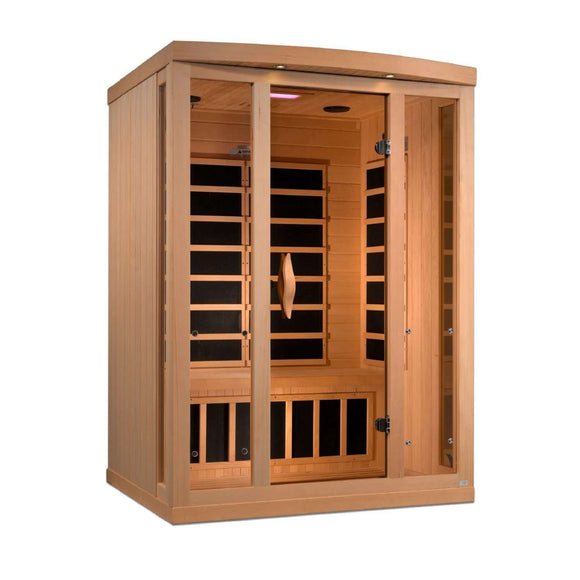 Planet Sauna:Jabbah 3 Person Near Zero EMF Far Infrared Sauna with Full Spectrum Option Available,Near Zero EMF Carbon Heaters,Sauna,Golden Designs Saunas