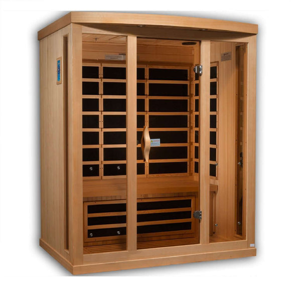 Planet Sauna:Janus 3 Person Near Zero EMF Far Infrared Sauna,Sauna,Golden Designs Saunas