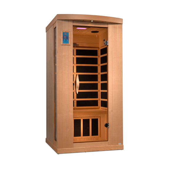 Planet Sauna:Kraz 1 Person Near Zero EMF Far Infrared Sauna with Full Spectrum Option Available,Near Zero EMF Carbon Heaters,Sauna,Golden Designs Saunas