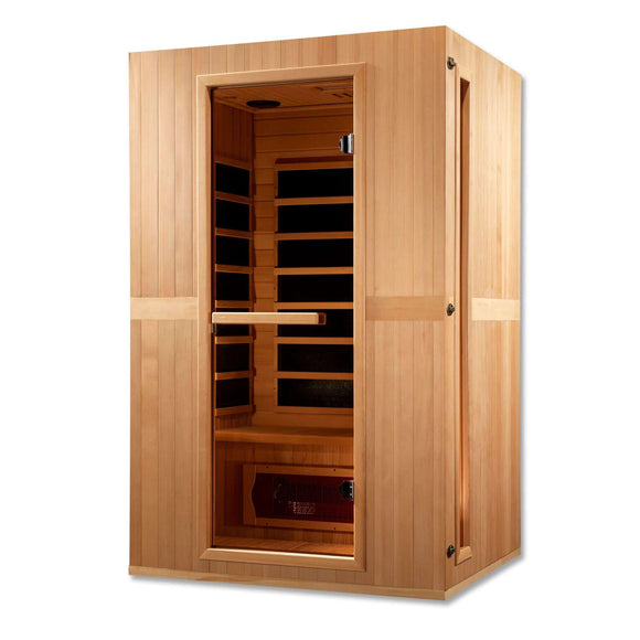 Planet Sauna:Leda 2 Person Dual Technology Low EMF Far Infrared Sauna,Sauna,Maxxus Saunas