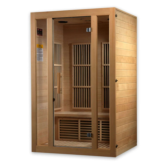 Planet Sauna:Luna 2 Person Carbon Heaters Low EMF Far Infrared Sauna,Sauna,Maxxus Saunas