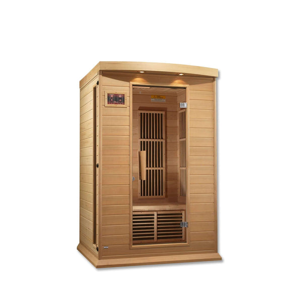 Planet Sauna:Maxxus 2 Person Low EMF FAR Infrared Sauna,Natural Hemlock,Sauna,Maxxus Saunas