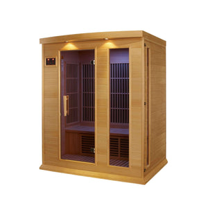 Planet Sauna:Maxxus Saunas 3 Person Low EMF FAR Infrared Sauna,Natural Hemlock,Sauna,Maxxus Saunas