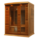 Planet Sauna:Maxxus Saunas 3 Person Low EMF FAR Infrared Sauna,Canadian Red Cedar,Sauna,Maxxus Saunas