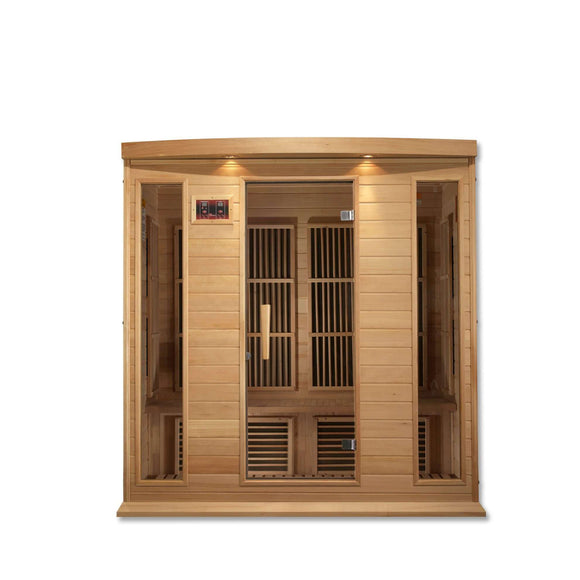 Planet Sauna:Maxxus Saunas 4 Person Low EMF FAR Infrared Sauna,Natural Hemlock,Sauna,Maxxus Saunas