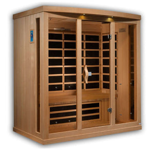 Planet Sauna:Mimas 4 Person Near Zero EMF Far Infrared Sauna,Sauna,Golden Designs Saunas