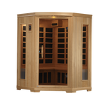 Planet Sauna:Pandora 3 Person Corner Low EMF Far Infrared Sauna,Sauna,Golden Designs Saunas