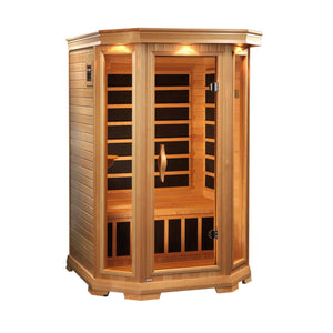 Planet Sauna:Prometheus 2 Person Low EMF Far Infrared Sauna,Sauna,Golden Designs Saunas