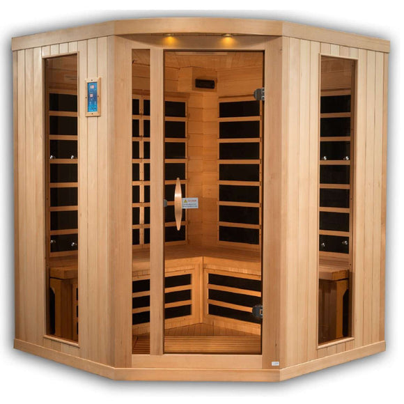 Rhea 4-5 Person Corner Near Zero EMF Far Infrared Sauna (Full Spectrum Option Available) (DISCONTINUED), [variant_title], Sauna, [shop_name]