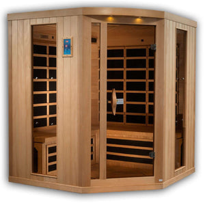 Planet Sauna:Rhea 4-5 Person Corner Near Zero EMF Far Infrared Sauna,Sauna,Golden Designs Saunas
