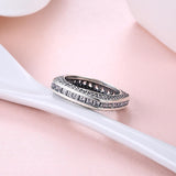 Eternity Baugette Sterling Silver Ring