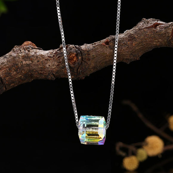 Aurora Borealis Sterling Silver Necklace