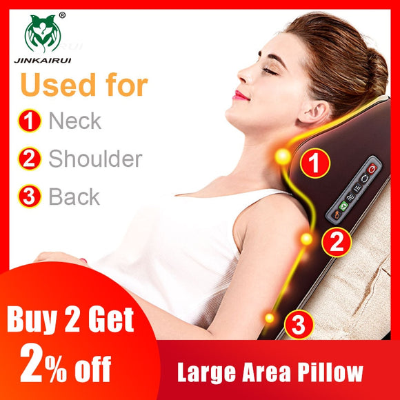Multi-functional Kneading Cervical Massager Neck Shoulder Waist Full-body Car Home Duel-use Gift Large Massager Pillow