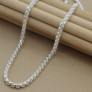 925 Sterling Silver 5mm Round Box Chain 18/20/24 Inch Necklace For Woman Men Fashion Wedding Engagement Charm Jewelry