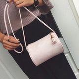 Soft Leather Handbag Womens Crossbody Shoulder Cylinder Bag Fashion Women Messenger Bags