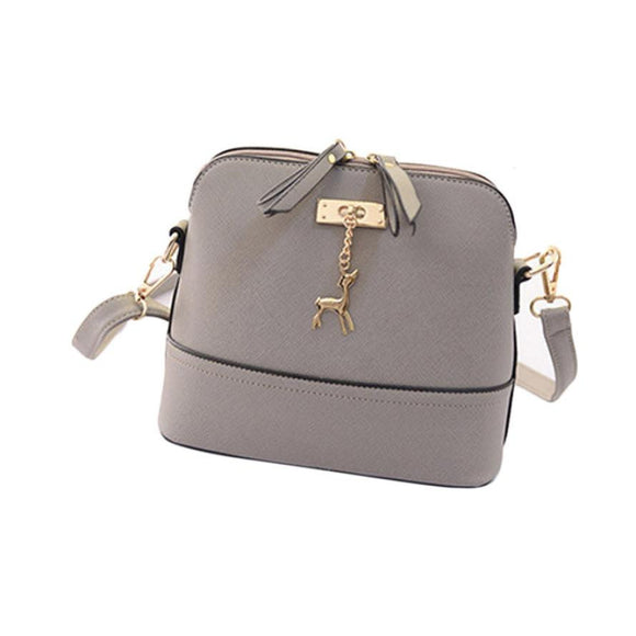 New Women Messenger Bags Vintage Small Shell Leather Handbag Casual Bag Hardware deer ornaments shell package high quality 2017