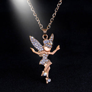 Angel elf alloy Rhinestone Necklace Jewelry Angel Elf Long Necklace Pendant Link Chain Sweater Necklace Gift Drop shipping #30