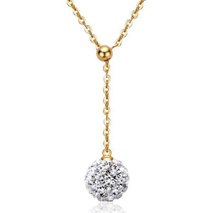 Womens Fashion Silver Gold Crystal Rhinestone Bead Pendant Necklace Long Chain