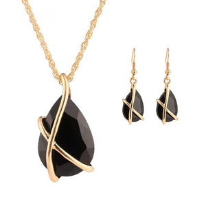 1Set Women Necklace Pendant Drop Earrings Jewelry BK