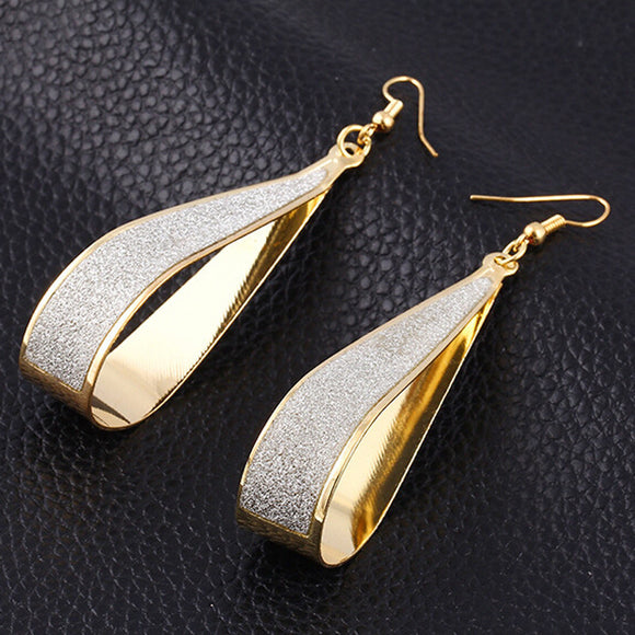 1Pair Women Alloy Drop Shape Dangle Earings Eardrop Jewelry GD