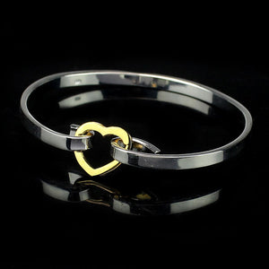 New Woman Female Models Silver Colored Love Jewelry Bangle Bracelet