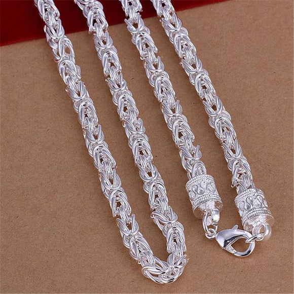 Wholesale Jewelry New Fashion 925 Silver Unique Design Woman Mens Necklace