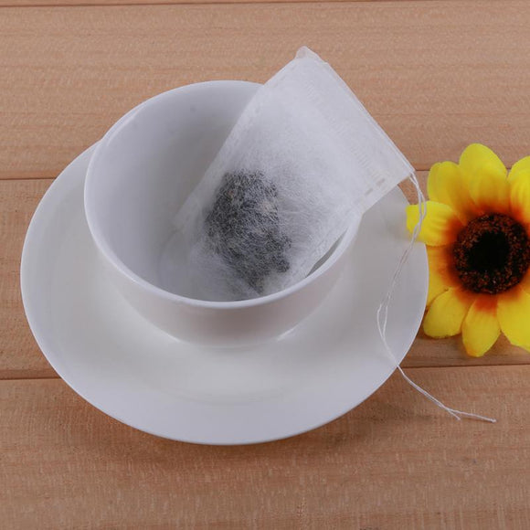 100pcs Disposable Non-woven Safety Tea Bag Tea Filter Bag String Heat Seal Filter Tea Infuser Tea Drinking Tools Accessories