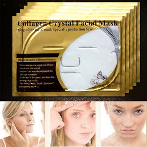White Bio-Collagen Cream Hydrating Facial Mask Whitening Anti-Aging Repair Skin