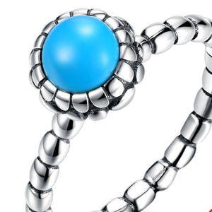 925 Sterling Silver Ring Retro turquoise ring simple fashion sterling silver ring SVR 221